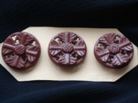 Chocolate Plastic Buttons